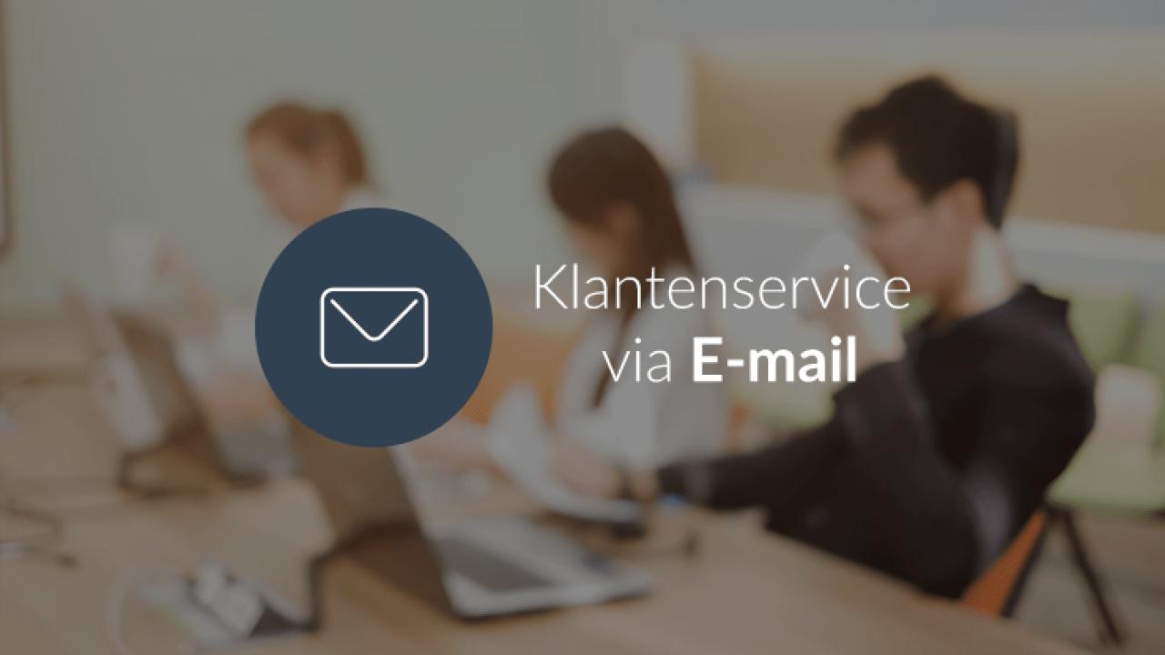 Klantenservice via e-mail