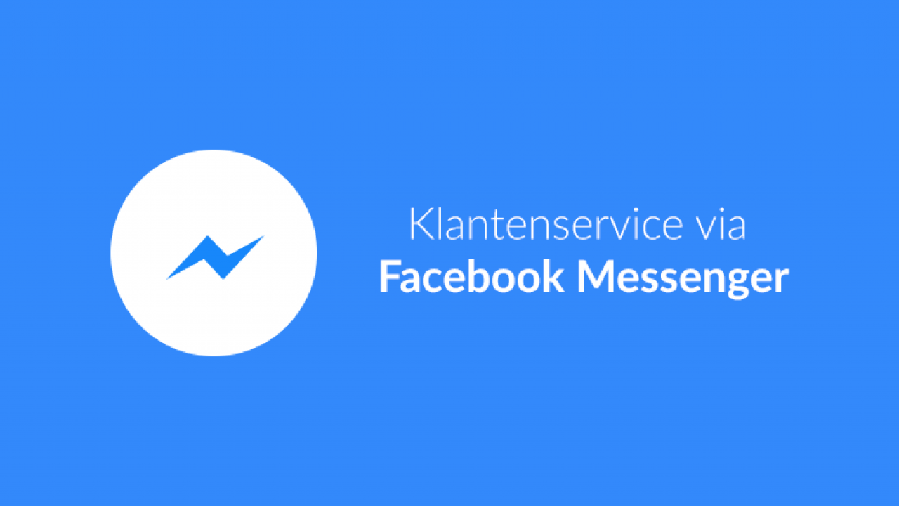 Klantenservice via Facebook Messenger