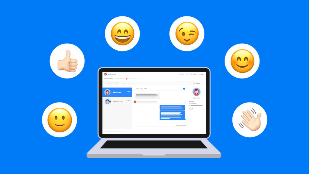 Hippe taal en emoji's