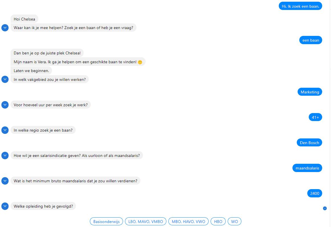 Randstad chatbot