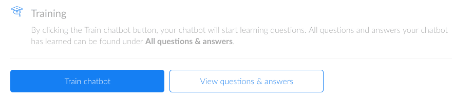 Training Chatbot