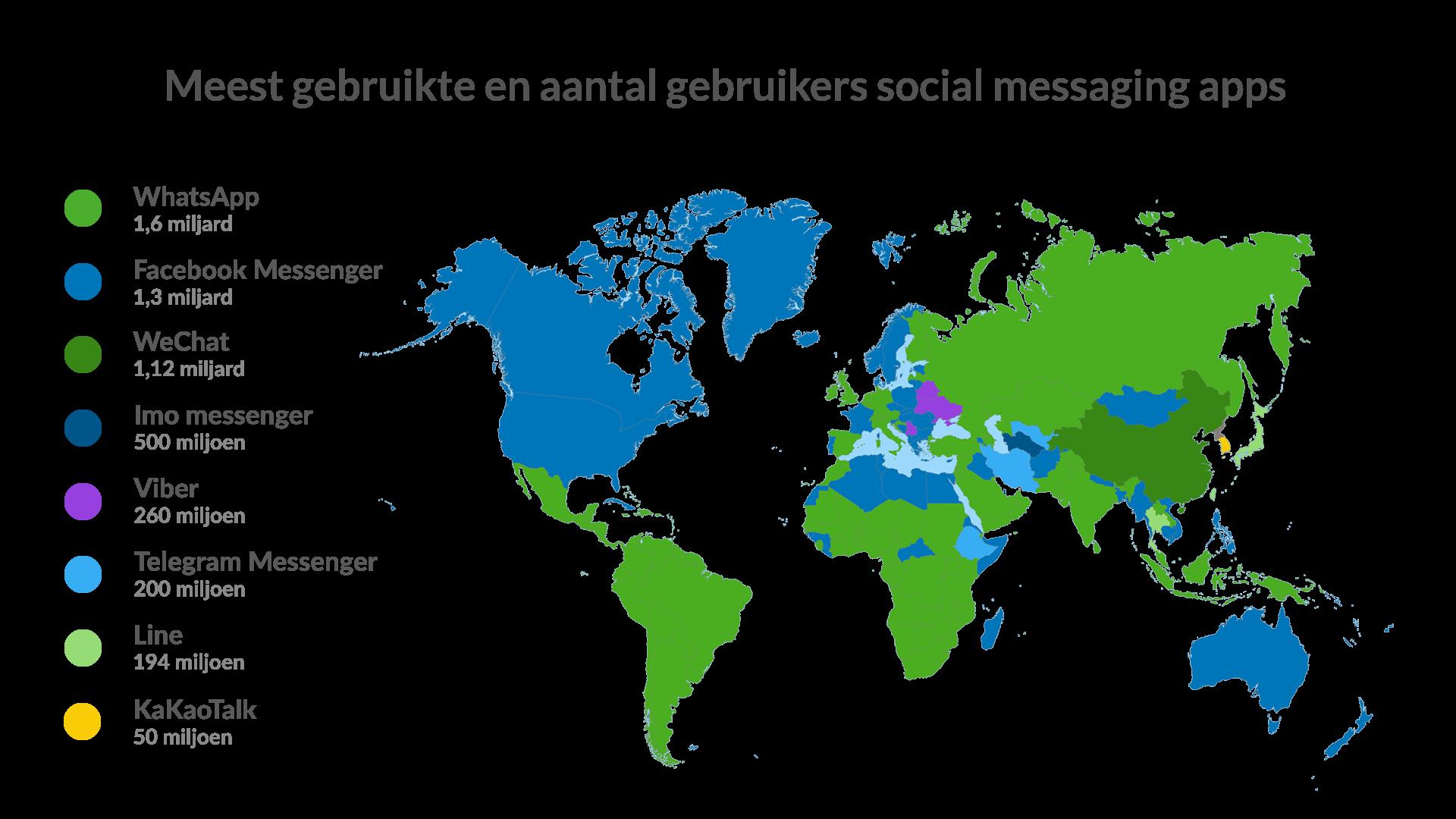 meest-gebruikte-social-messaging-apps-wereldwijd
