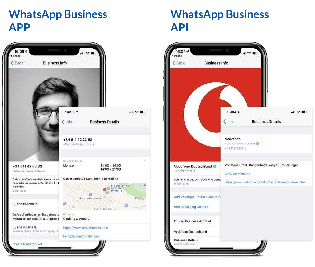 Whatsapp business en Whatsapp business api verschillen
