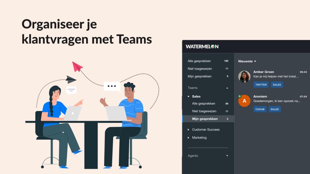 Organiseer je klantvragen met Teams