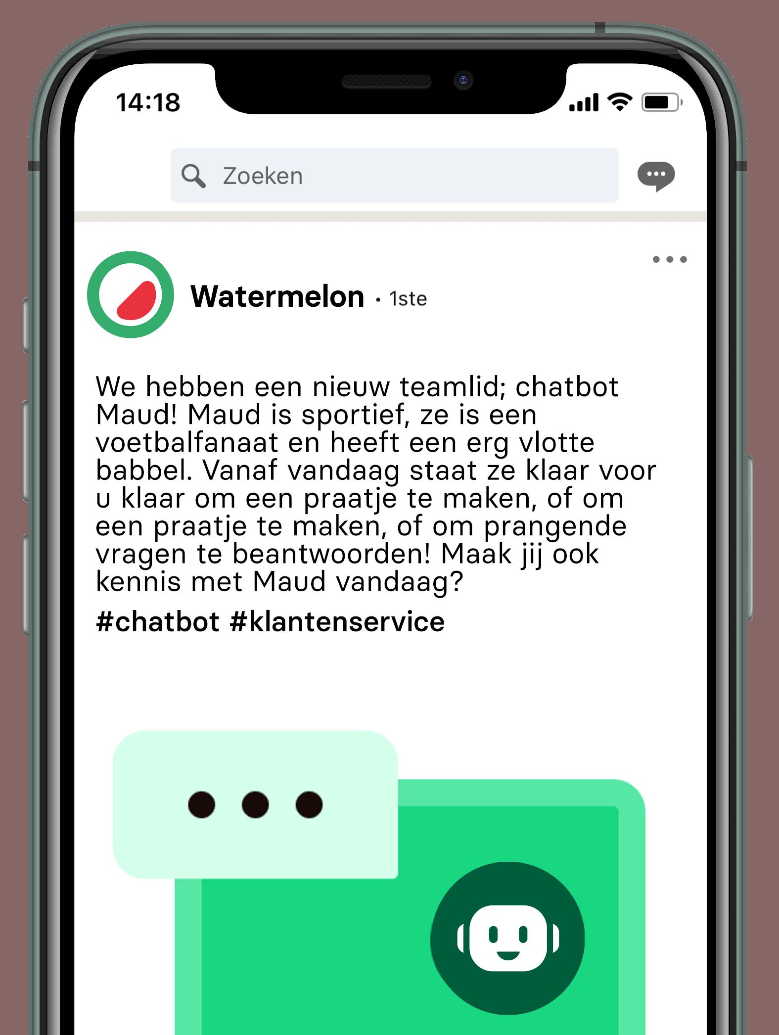 chatbot linkedin post