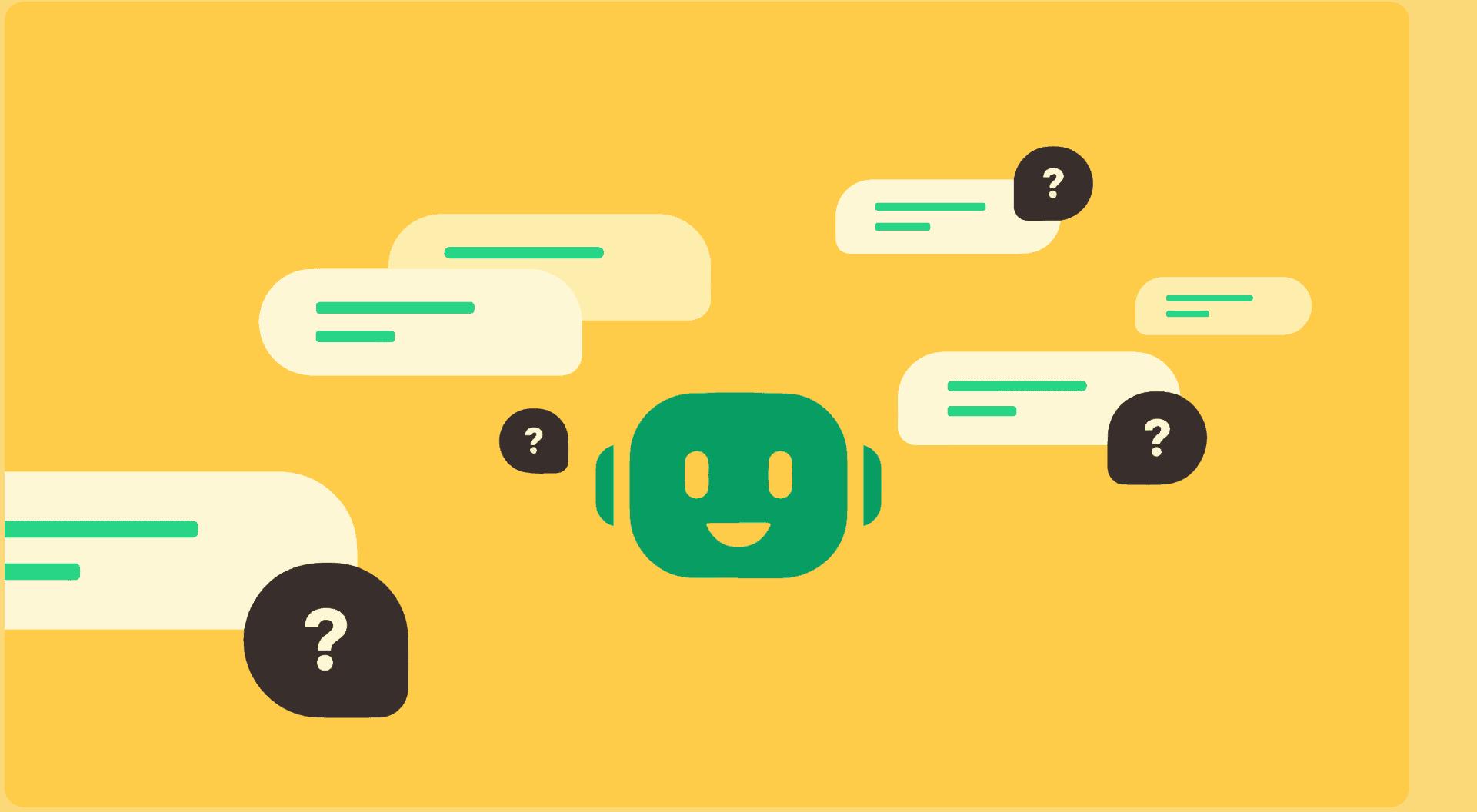 Tekstwolkjes met chatbot